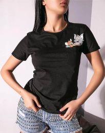 Tričko - kód 2447 - 1 - černá