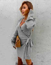Šaty - kód 9846 - šedá