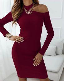 Šaty - kód 4859 - bordeaux