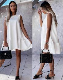 Šaty - kód 3456 - bílá