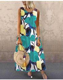 Šaty - kód 0083-2 - vícebarevné