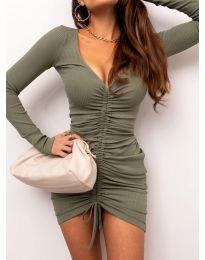 Šaty - kód 12069 - olivová  zelená