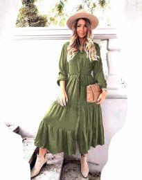 Šaty - kód 6522 - olivová  zelená