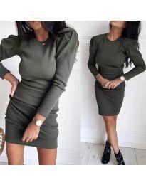 Šaty - kód 3519 - olivová  zelená