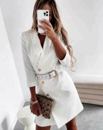 Šaty - kód 9257 - bíla
