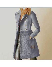 Kabát - kód 3100 - 4 - šedá