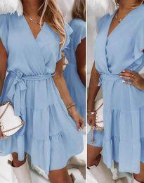 Šaty - kód 2345 - světle modrá