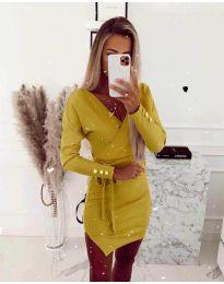 Šaty - kód 2077 - žlutá