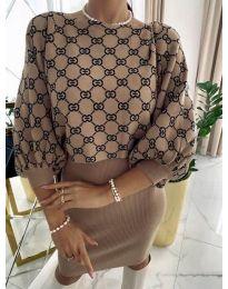 Šaty - kód 0770 - hněda