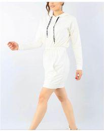 Šaty - kód 7315 - bílá