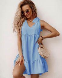 Šaty - kód 7206 - světle modrá