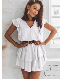 Šaty - kód 7173 - bílá