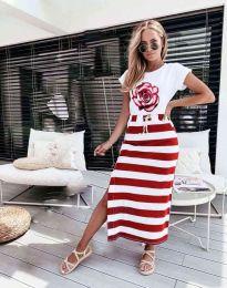 Šaty - kód 0232 - červená