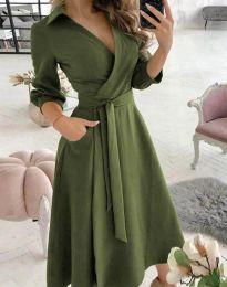 Šaty - kód 2861 - olivová  zelená
