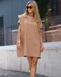 Šaty - kód 6332 - 1 - cappuccino