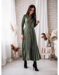 Šaty - kód 1544 - olivová  zelená