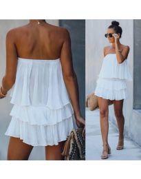 Šaty - kód 0489 - bílá