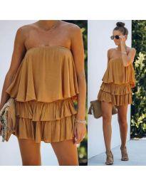 Šaty - kód 0489 - hořčičná
