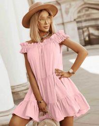 Šaty - kód 6969 - světle růžová