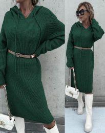 Šaty - kód 6449 - tmavozelenou