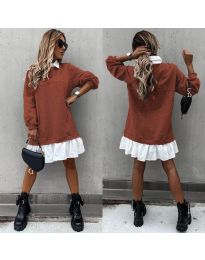 Šaty - kód 5516 - hněda