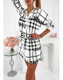Šaty - kód 5456 - bílá