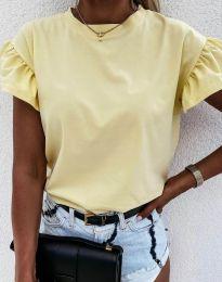 Tričko - kód 4352 - světle žlutá