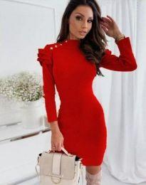Šaty - kód 9652 - 1 - červená