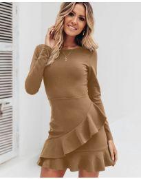 Šaty - kód 2909 - hněda