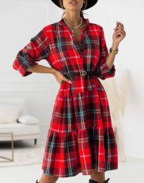 Šaty - kód 6842 - červená