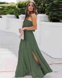 Šaty - kód 8871 - olivová  zelená