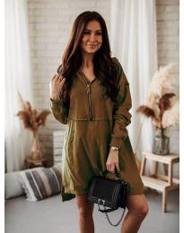 Šaty - kód 6113 hnědý