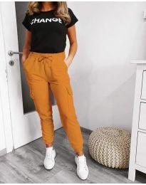 Kalhoty - kód 3089 - 3 - hořčičná