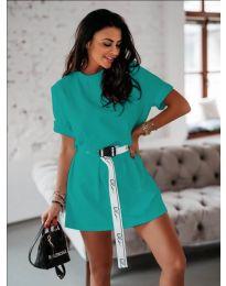 Šaty - kód 809 - tyrkysový