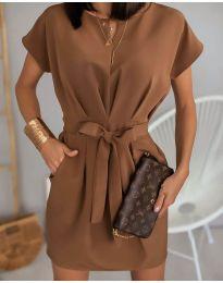 Šaty - kód 772 - hněda