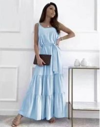 Šaty - kód 2578 - světle modrá