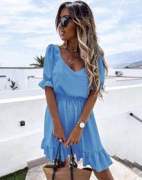 Šaty - kód 6460 - světle modrá
