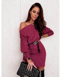 Šaty - kód 4442 - bordeaux