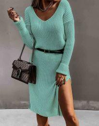 Šaty - kód 6829 - mentolová