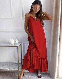 Šaty - kód 4671 - červená