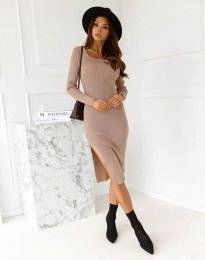 Šaty - kód 9782 - cappuccino