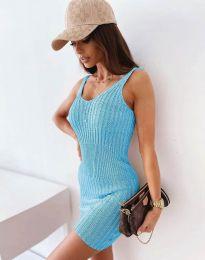 Šaty - kód 10088 - světle modrá
