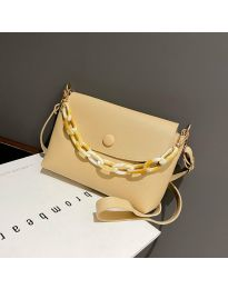 Дамска чанта в бежово - код B7674