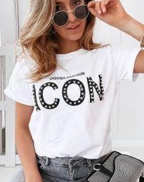 Tričko - kód 4357 - bílá