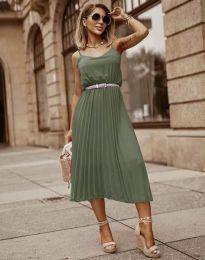 Šaty - kód 1249 - olivově zelená