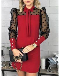 Šaty - kód 1081 - červená
