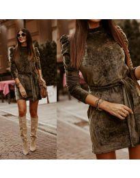 Šaty - kód 0722 - olivová  zelená