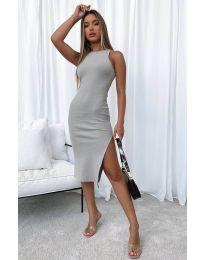 Šaty - kód 11939 - tmavošedý