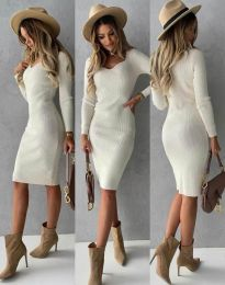 Šaty - kód 4845 - bílá