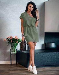 Šaty - kód 3214 - olivově zelená